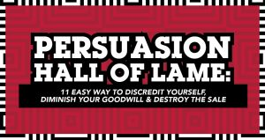 Persuasion hall of lame